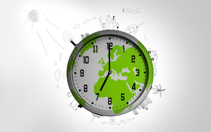 Earth clock image