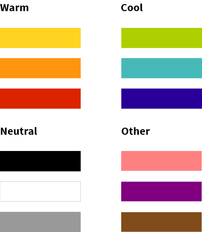 grid of colours included