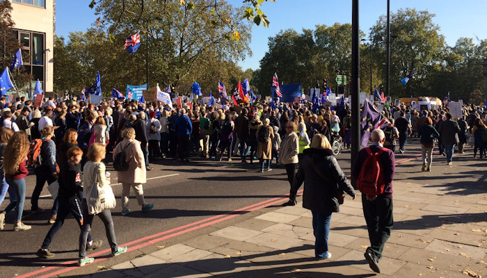 People's Vote march, London, Oct 2018